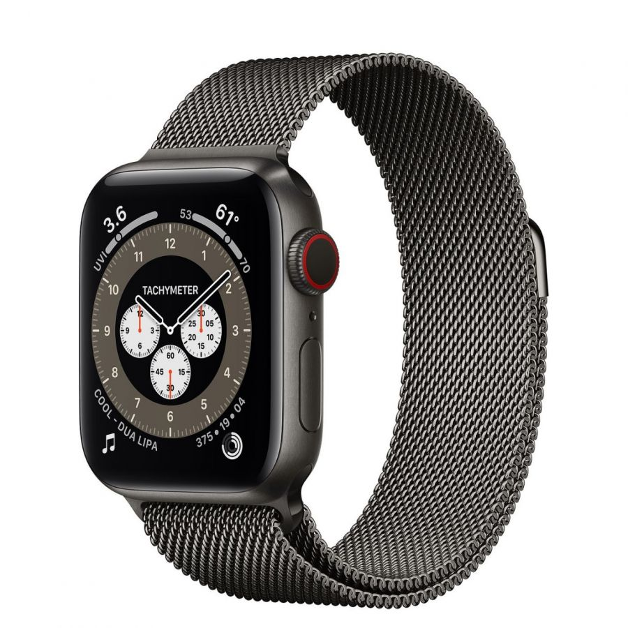 Часы Apple Watch Edition Series 6 GPS + Cellular 44mm Space Black Titanium Case with Graphite Milanese Loop