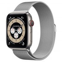 Часы Apple Watch Edition Series 6 GPS + Cellular 44mm Titanium Case with Silver Milanese Loop