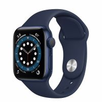 Apple Watch Series 6 Blue Aluminum Case 40mm Deep Navy Sport Band