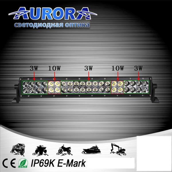 Гибридная двухрядная светодиодная балка дальнего света 236W ALO-30-P4BT