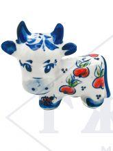 Корова Яблонька 7,5х9х4,5см. Авторская роспись. Символ 2021 года Гжель .