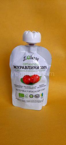 Паста клюквы Liquidfruits,100 грамм