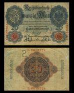 Германия - 20 марок, 1914. F-VF. Мультилот