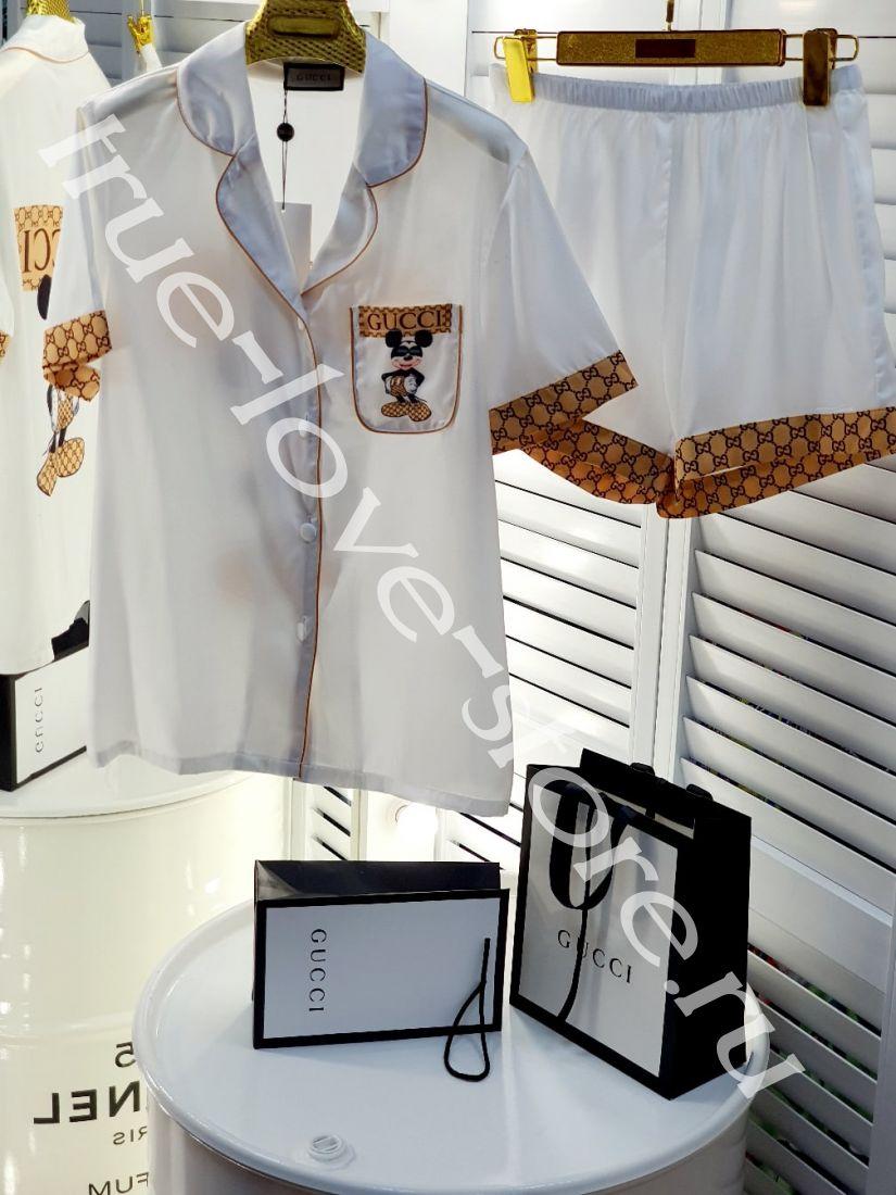 720004-2-Пижама Gucci (3шт) ( Микки в очках)(M,L,XL)
