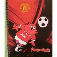 Тетрадь 48л клетка даблспираль Manchester United