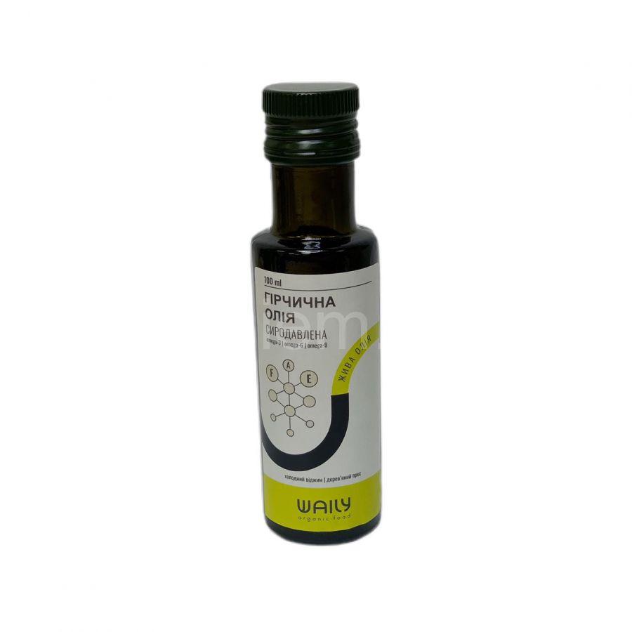 Сыродавленное горчичное масло Waily Organic Food,100мл
