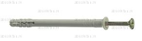 Дюбель-гвоздь распорный гриб 6,0х80 мм.