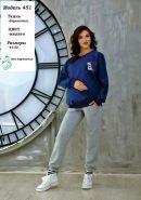 Блуза для беременных и кормящих индиго арт 451