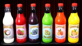 Появление Шести бутылок с соком -  Large Bottle Perfect Bottles by Tora Magic