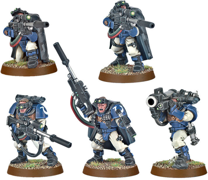 Warhammer 40,000: Space Marines Scouts with Sniper Rifles