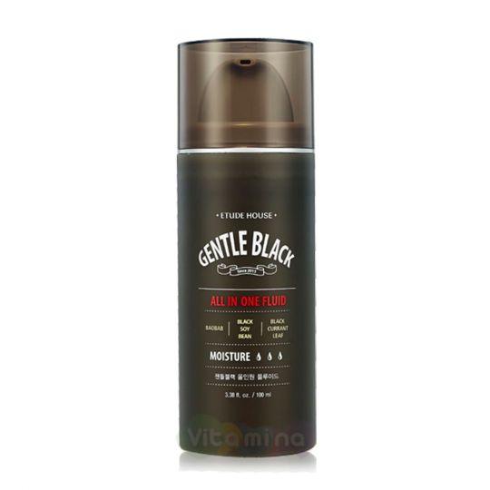 Etude House Универсальный флюид для мужской кожи Gentle Black All In One Fluid, 100 мл