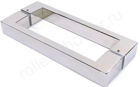 Ручка для дверцы в душевой кабине  160мм. Металл, цвет-хром