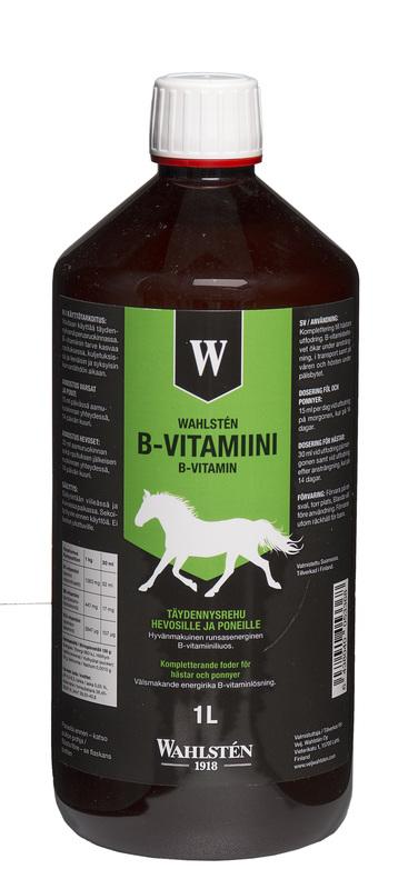 """Wahlsten Витамины группы """"В"""" для лошадей, подверженных высоким нагрузкам. 1 и 3 литра"""