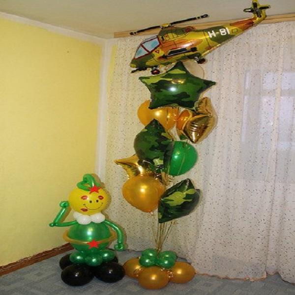 Композиция из воздушных шаров Парад 2
