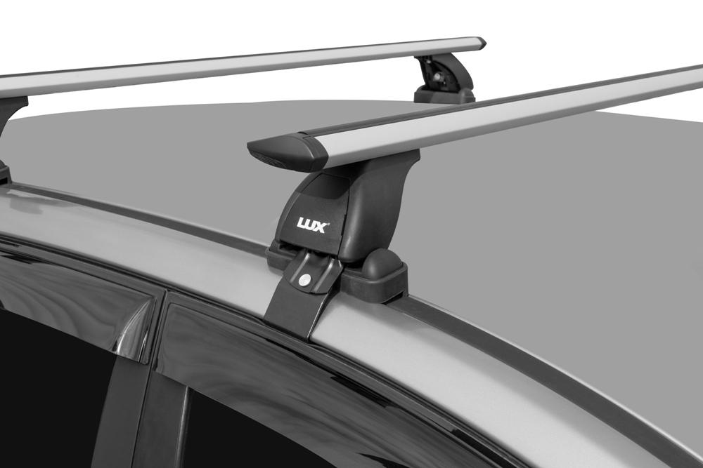 Багажник на крышу Hyundai Santa Fe внедорожник 2012-…, Lux, крыловидные дуги