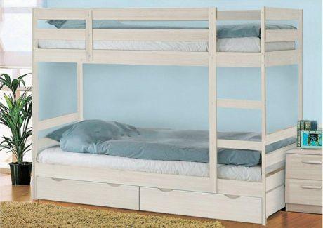 Кровать двухъярусная с ящиками Пирус