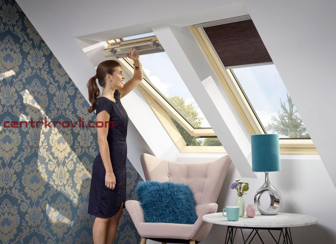 Мансардное окно Velux Стандарт+ GZR3061 (ручка сверху)