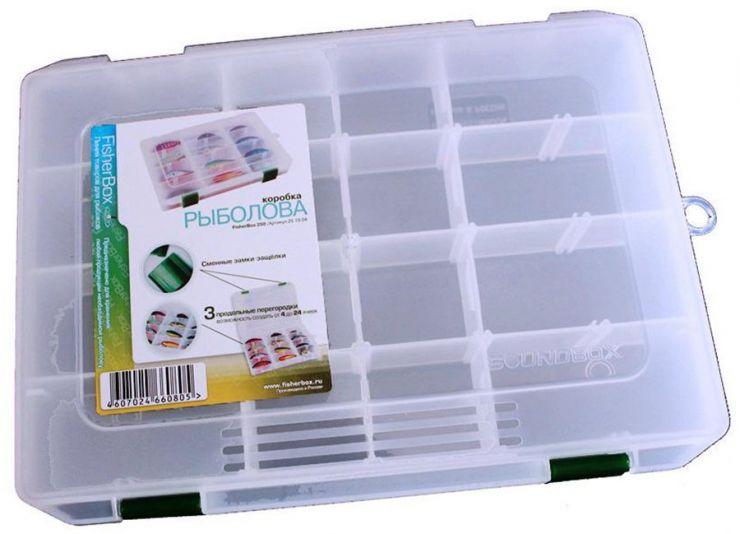 Коробка ФФК-250 рыбака пластиковая 250х190х40