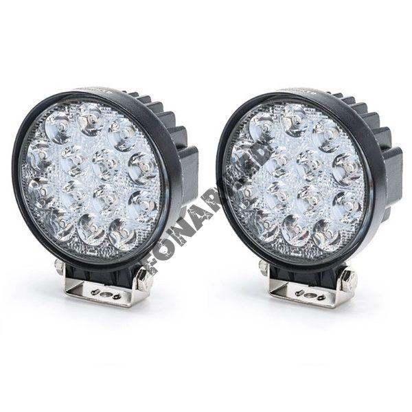 Комплект светодиодных фар K-FR14-42W FLOOD ближний, рабочий свет