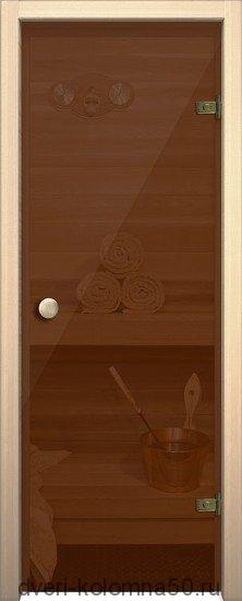 Дверь стеклянная Кноб Е (Бронза тонированное)