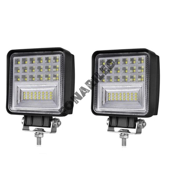 Комплект светодиодных фар K-FR42-126W FLOOD ближний, рабочий свет
