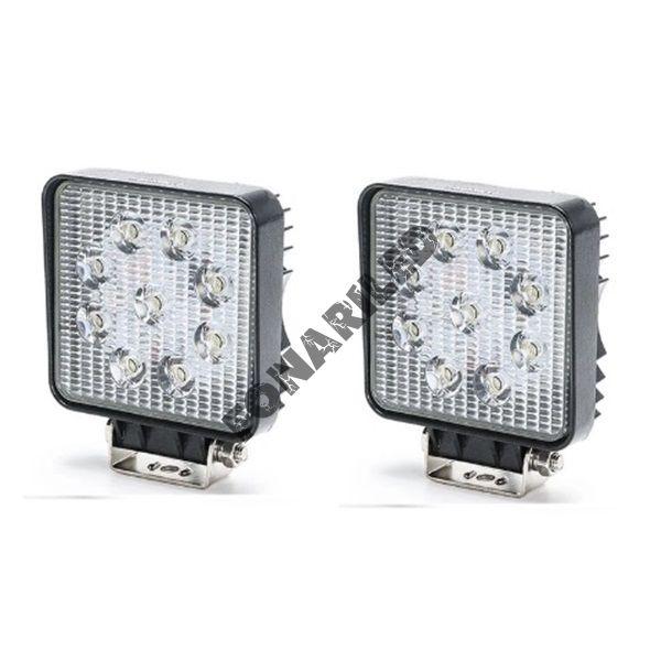 Комплект светодиодных фар K-FRK9-27W SLIM рабочий свет