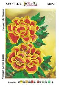 Фея Вышивки КР-479 Цветы схема для вышивки бисером купить оптом в магазине Золотая Игла