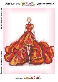 Фея Вышивки КР-542 Девушка Модель схема для вышивки бисером купить оптом в магазине Золотая Игла