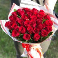 Акция: 35 красных кенийских роз