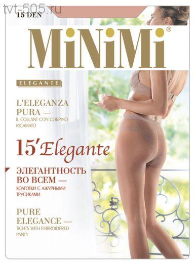 Колготки Minimi 15den elegante с ажурными трусиками