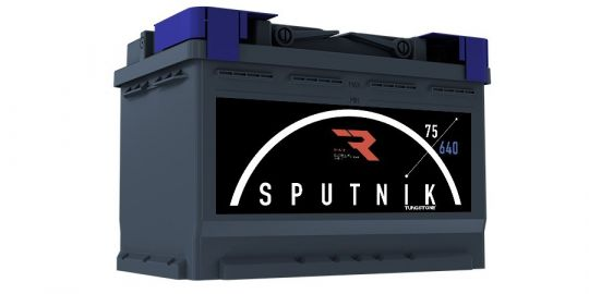 Автомобильный аккумулятор АКБ Sputnik (СПУТНИК) 6СТ-75 N 75Ач о.п.