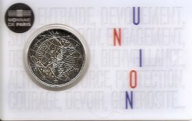 Медицинские исследования BU «UNION» 2 евро Франция 2020 BU блистер