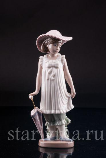 Изображение Девочка с зонтиком, Lladro, Испания, после 1990 г.