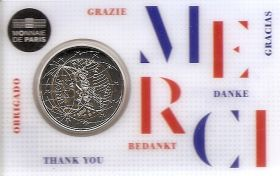 Медицинские исследования BU «MERCI» 2 евро Франция 2020 BU на заказ