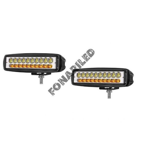 Комплект светодиодных фар K-WY20L-60W SPOT желтый/белый свет