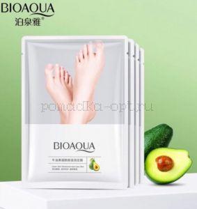 Оригинал Увлажняющая маска-носочки Биоаква с экстрактами авокадо и ниацинамидом