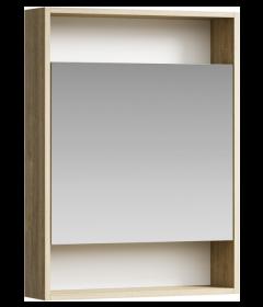 Зеркальный шкаф Aqwella Сити 60 дуб балтийский SIT0406DB