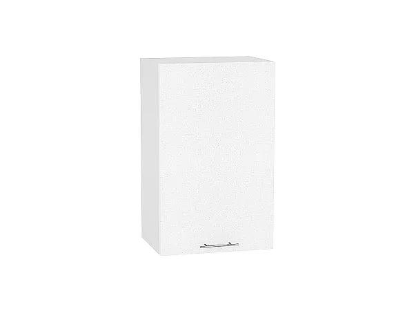 Шкаф верхний Валерия В450 (белый металлик)