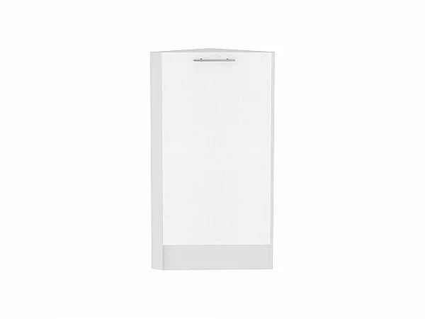Шкаф нижний торцевой Валерия НТ300 (белый металлик)