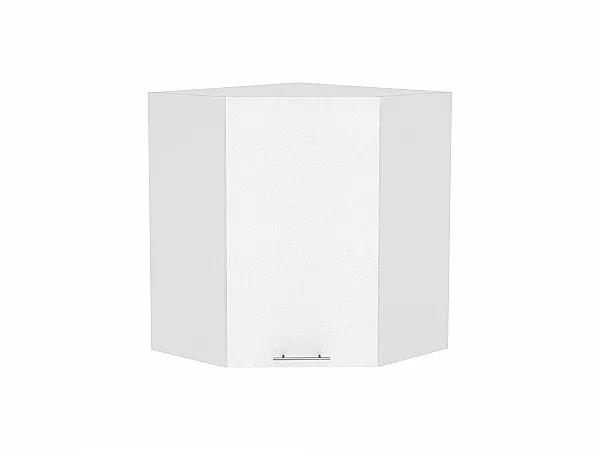 Шкаф верхний угловой Валерия ВУ590 (белый металлик)