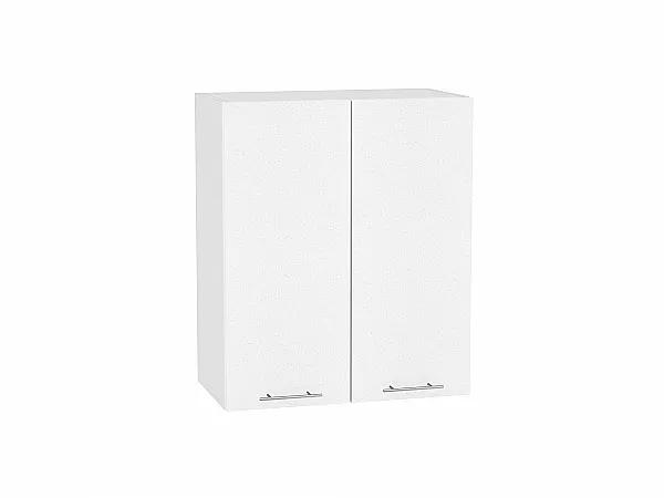 Шкаф верхний Валерия В600 (белый металлик)