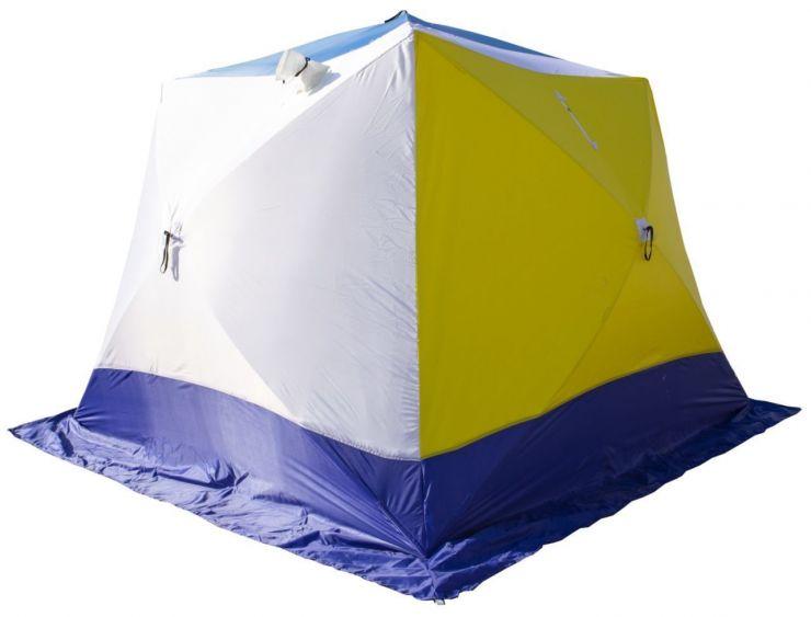 Палатка зимняя Стэк КУБ 4 трехслойная Т дышащая 250*250*200