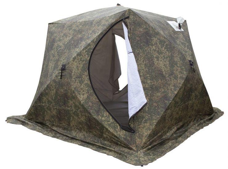 Палатка зимняя Стэк КУБ 4 трехслойная Т 250*250*200 камуфляж
