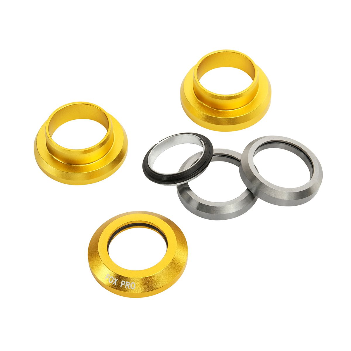 Рулевая колонка Fox стандарт 1 1/8 silver/gold