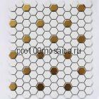 Babylon Gold matt Мозаика СОТЫ, серия PORCELAIN, размер, мм: 260*300*6