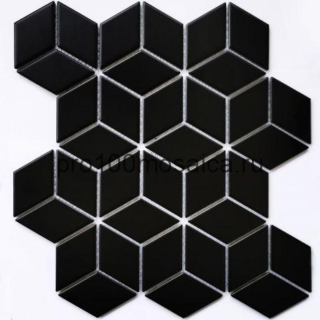Landa Black matt Мозаика серия PORCELAIN,  размер, мм: 267,4*309*6