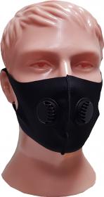 Защитная маска двойной клапан в индивидуальной упаковке (мужская) MaskM002