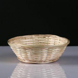 Плошка плетеная, бамбук, D19xH5 см, натуральный 4821954