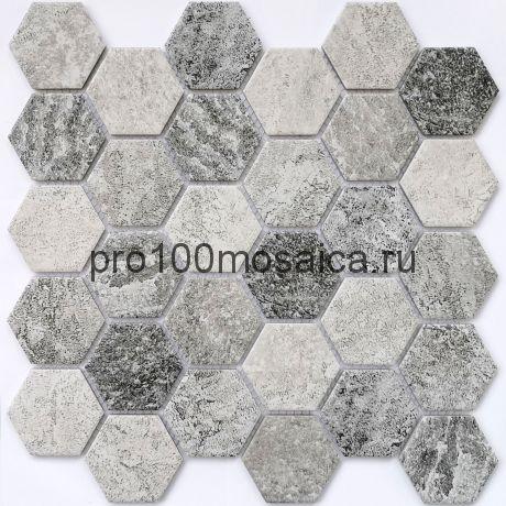 Olmeto Grey Мозаика СОТЫ, серия PORCELAIN, размер, мм: 282*271*6