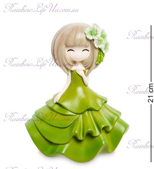 """Копилка девочка в зеленом платье """"MF"""""""